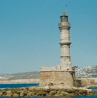 Lighthouse in Hania's harbor