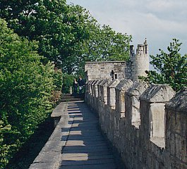 Castle wall surrounding the City of York.